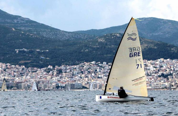 Vladimir Krutskikh is new leader at Finn World Masters in Kavala
